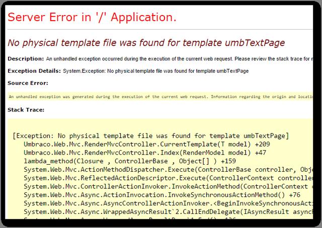 No_physical_template_error