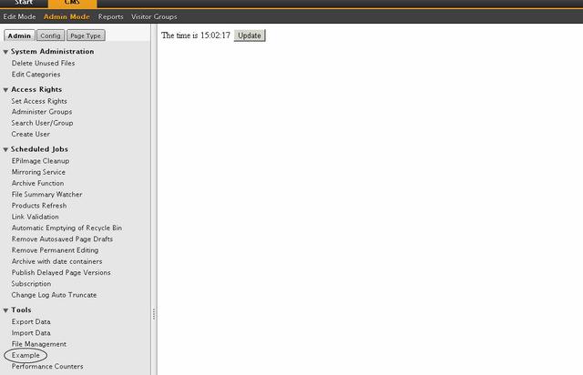 Epi Admin Plugin Screenshot