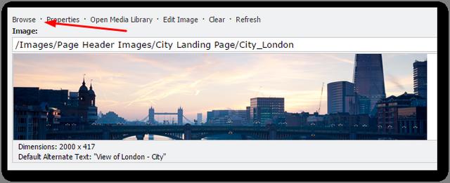 sitecore 7.5 upgrade image browse error