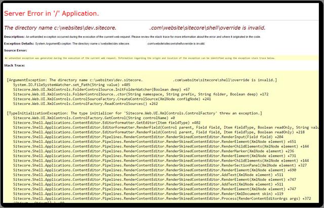 sitecoreshell_override_is_invalid